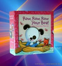 ROW ROW ROW YOUR BOAT + OTHER NURSERY RHYMES 4 BOARD BOOK SET TRACEY MORONEY NEW