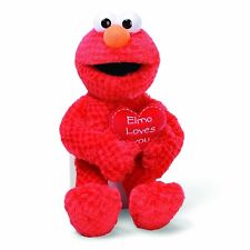 "GUND SESAME STREET ELMO LOVES YOU PERFECT VALENTINES DAY GIFT PLUSH TOY 14"" NEW"