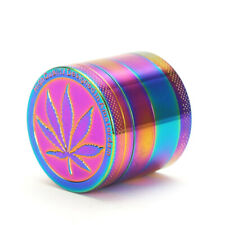 "1.5"" 4 Layer Metal Tobacco Crusher Hand Muller Smoke Herbal Herb Grinder Rainbow"