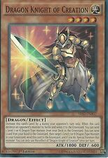 3 X YU-GI-OH: DRAGON KNIGHT OF CREATION - SUPER RARE - SR02-EN002 - 1st EDITION