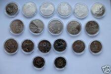 Set All Ukraine 2012 Non-precious Coins 2+5 Hryvnia 19 coins UNC Nickel Bimetal