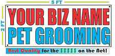CUSTOM NAME PET GROOMING Banner Sign NEW Larger Size Best Quality for the $$$