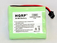 HQRP 1200 mAh Phone Battery replacement for Uniden BT-905 BT-800