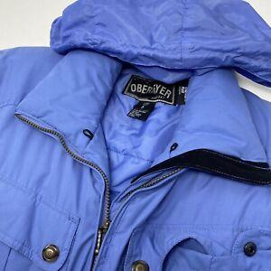 Obermeyer Thermolite Plus Women's 8 Petite Blue One Piece Snowsuit Ski Suit