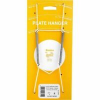 "Wall Display Plate Dish White 9.5""-14"" Wire Spring Hanger Holder Hangers Mount"