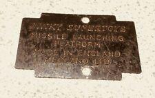 Dinky Toys 666 Spare Part - Missile Platform Tin Base