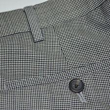 Mint RALPH LAUREN 100% Wool Black Tan Houndstooth Flat Front Dress Pants 38 x 32