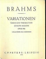 Brahms : Variationen über ein Thema von Haydn Opus 56b, 2 Klaviere zu 4 Händen