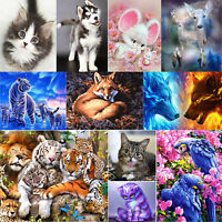 5D DIY Diamond Painting Animals Embroidery Cross Craft Stitch Home Art Decor Kit