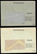 vier Postsachen - Briefumschläge für Fernmelderechnungen der Post der DDR