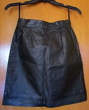Vintage Vtg 80s Leather Mini Pencil Skirt - Fast Turn - Sz Xs / S - Black