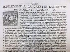 Ruremonde 1758 Brême Schwerin Insbruck Turin Italie Pays Bas Vienne Utrecht