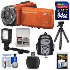 JVC Everio GZ-R320 Quad Proof Full HD Digital Video Camera Camcorder Kit Orange