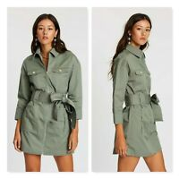 IVYREVEL | Womens Utility Twill Dress NEW + TAGS [ Size AU 10 or US 6 ]