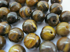20 Tiger's Eye Beads 8mm Round Natural Gemstone Beads for Jewellery Making