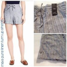 Marks and Spencer Linen Striped Shorts for Women