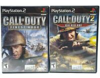 Call of Duty 2: Big Red One & Finest Hour PlayStation 2 PS2 Lot Complete