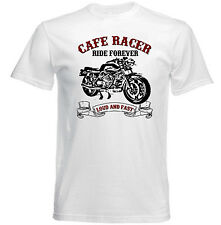 VINTAGE ITALIAN MOTORCYCLE MOTO GUZZI CAFE RACER LE MANS - NEW COTTON T-SHIRT