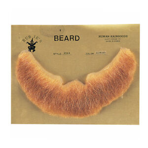 Light Brown Full Character Beard Human Hair Costume Halloween Accessory