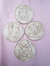 4 Grand Tour Cameo Intaglios Medallions Seals Plaster Tassie gems  handmade new