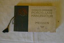 Katalog Saechsische Porzellan Manufaktur - Meissen 1900 - Porcelaine Allemande