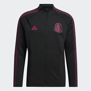 adidas 2020-21 Mexico Anthem Jacket - Black-Pink