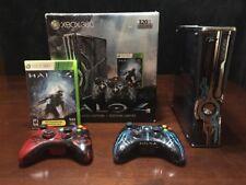 Console Xbox 360 Slim Halo 4 Edition W/Box , Controllers & Games !
