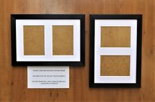 """Photo/Picture Frame with White Double 7x5""""Aperture Mount in Brushed Black Finish"""