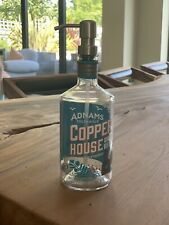 Adnams Copper House Gin Bottle Upcycled soap dispenser & Stainless Steel Pump