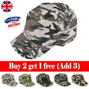 Unisex Camouflage Army Hat Camo Military Cadet Combat Fishing Baseball Cap Hat