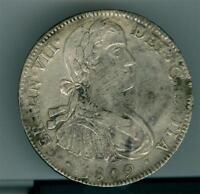 MEXICO SPANISH COLONIAL FERDINAN VII 1809 MO T.H. 8 REALES CIRCULATED