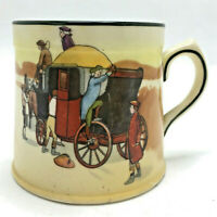 "Vintage Royal Doulton Coaching Days Stagecoach China Tankard Mug Cup 2 3/4"""