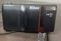 Nikon TW20 AF lens 35/55mm macro point & shoot film camera.