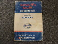 1971 1972 Subaru FF-1 1300G Sedan Wagon Coupe Owner Manual User Guide Original