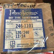 JEFFERSON ELECTRIC TRANSFORMER 120/240V 12/24V 2461101 New