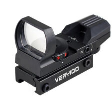 Airsoft Holographic Red Green Dot Sight Reflex Scope 4 Reticles Fit 20mm Rail