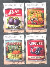 Australia -Vintage Jam Labels-2018-Art-fine used cto set gummed