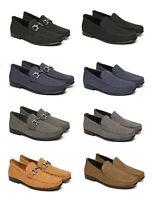 Mens Casual Smart Shoes Slip On Loafers Suede Office Designer Dress Formal Sizes