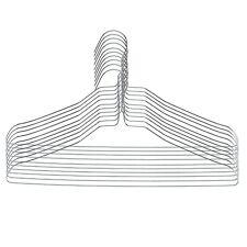 Rampi Grucce in Metallo Argento Resistente per Abiti Casa e Lavanderia 50 Pezzi