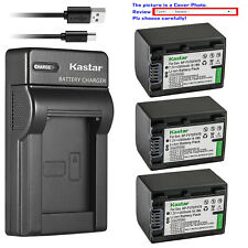 Kastar Battery Slim Charger for Sony NP-FV70 & Sony FDR-AX33 FDR-AX53 NEX-VG10