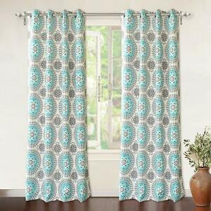 Circle Dream Thermal and Room Darkening Grommet Window Curtains Set of 2 Panels