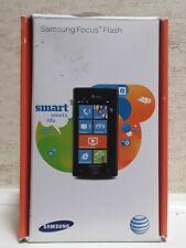 NIB Samsung FOCUS Flash SGH-I677 - 8GB - Black (AT&T 65497) Smartphone Cellphone