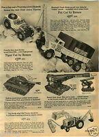 1965 PAPER AD Remco Fat Cat Toy Truck Big Cat Tank Buddy L Horse Corral Structo