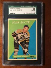 1958-59 Topps John Bucyk #40 SGC 88 NM-MT 8 Bruins HOF