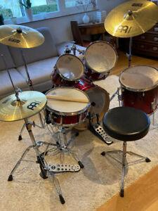Schlagzeug Basix, Akustisches Drum Kit, Gebraucht