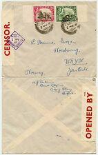 ADEN CAMP to NORWAY WW2 SEPT 1939 CENSOR No.2