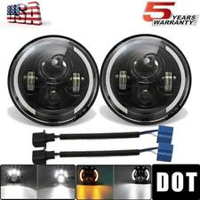 DOT 7 inch LED Headlights Round Halo Projector For 1969-1974 Chevrolet Blazer