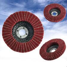 """4"""" 100mm Diameter Grit 240# Nylon Fiber Flap Polishing Grind Wheel Disc Red"""