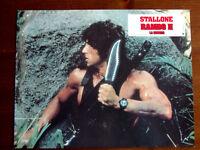 SYLVESTER STALLONE PHOTOGRAPHIE D'EXPLOITATION RAMBO II LA MISSION 1985