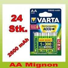 24 Stk. Varta Mignon AA Akku ready2Use 2600 mAh im 4er Blister 24x